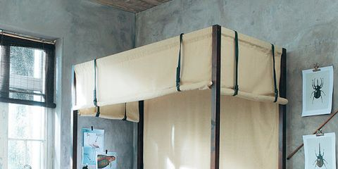 Room, Bed, Bedding, Bedroom, Interior design, Floor, Bed frame, Linens, Ceiling, Bed sheet,