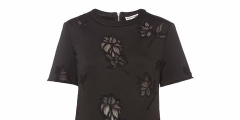 Product, Sleeve, Shirt, T-shirt, Neck, Black, Pattern, Grey, Active shirt, Top,