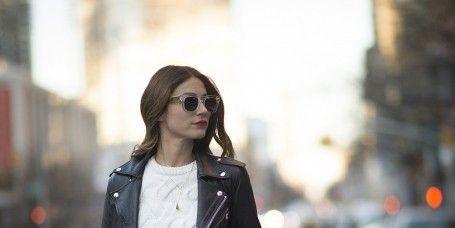 Eyewear, Glasses, Sunglasses, Sleeve, Textile, Collar, Outerwear, Coat, Style, Street fashion,