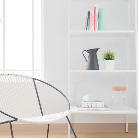 Shelf, Furniture, White, Table, Shelving, Product, Room, Bookcase, Chair, Floor,