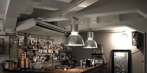 Interior design, Room, Building, Furniture, Countertop, Kitchen, Ceiling, Coffeehouse, Cabinetry, Barware,