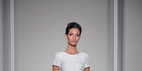 Clothing, Sleeve, Dress, Shoulder, Textile, Gown, Bridal clothing, Formal wear, Wedding dress, Fashion model,