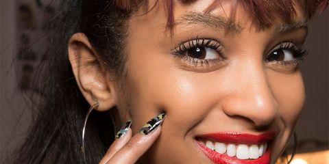 Nose, Lip, Finger, Hairstyle, Earrings, Skin, Chin, Forehead, Eyebrow, Eyelash,