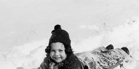 Winter, Playing in the snow, Snow, People in nature, Sled, Freezing, Geological phenomenon, Ice cap, Sledding, Beanie,