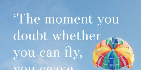 Parachute, Sky, Text, Font, Happy, Cloud, Air sports, Vacation,