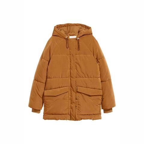 Clothing, Outerwear, Jacket, Hood, Parka, Sleeve, Beige, Brown, Coat, Tan,