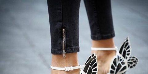 Footwear, Leg, Human leg, High heels, Shoe, Joint, White, Style, Sandal, Foot,
