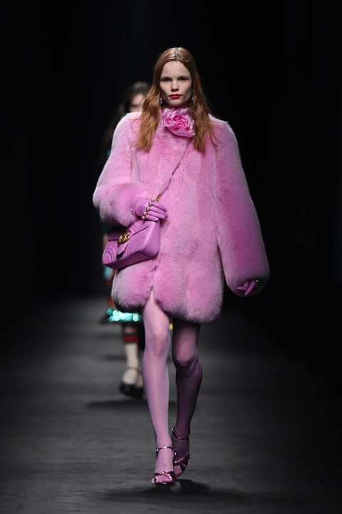 Magenta, Outerwear, Coat, Purple, Pink, Violet, Dress, Fashion, Knee, Fashion model,