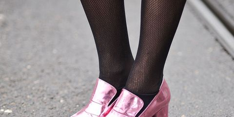 Human leg, Pink, Road surface, Asphalt, Carmine, Colorfulness, Grey, Magenta, Close-up, Calf,