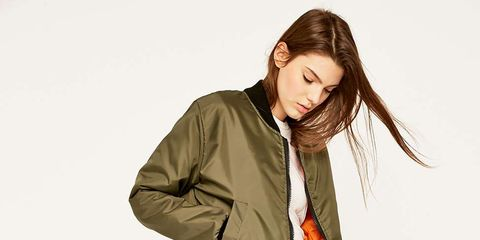 Sleeve, Shoulder, Collar, Jacket, Joint, Standing, Elbow, Style, Pocket, Khaki,