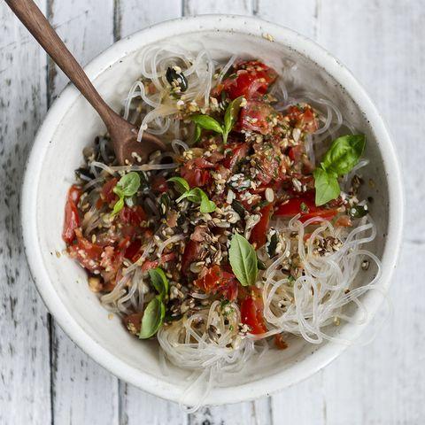 Food, Cuisine, Ingredient, Recipe, Dish, Garnish, Produce, Kitchen utensil, Leaf vegetable, Chinese food,