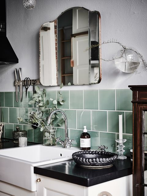 Room, Interior design, Plumbing fixture, Wall, Tap, Kitchen, Sink, Countertop, Grey, House,