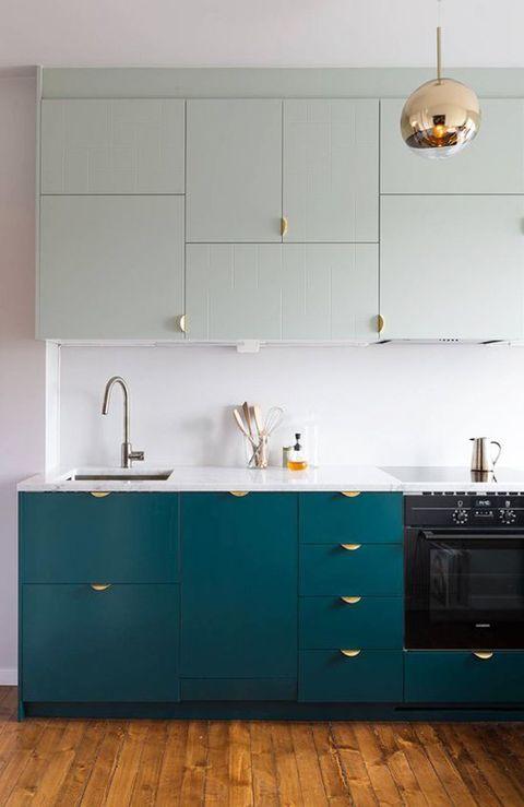 Room, Green, Wood, Floor, Property, White, Flooring, Interior design, Cabinetry, Line,