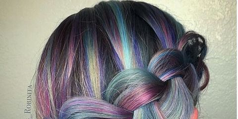 Hairstyle, Violet, Purple, Magenta, Style, Lavender, Beauty, Grey, Pattern, Braid,