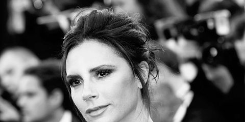 Ear, Lip, Hairstyle, Eyebrow, Eyelash, Style, Monochrome photography, Beauty, Black-and-white, Strapless dress,