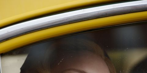 Lip, Eyelash, Vehicle door, Portrait, Eye liner, Portrait photography, Makeover, Feathered hair, Vintage clothing,