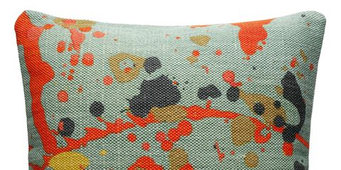 Pattern, Orange, Textile, Red, Cushion, Linens, Throw pillow, Pillow, Home accessories, Creative arts,