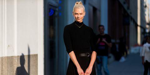 Street fashion, Fashion, Clothing, Shoulder, Cobalt blue, Electric blue, Standing, Neck, Dress, Design,