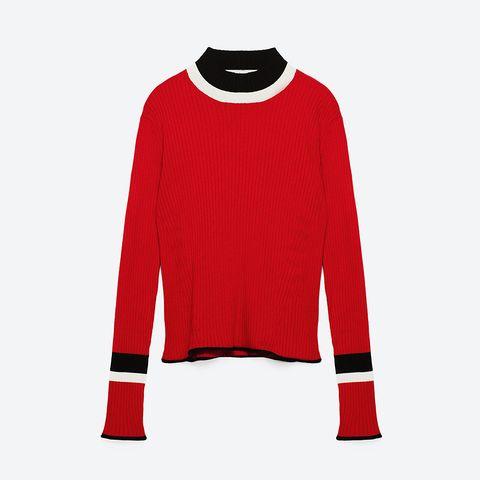 Sleeve, Collar, Textile, Red, Sweater, Pattern, Carmine, Maroon, Woolen, Sweatshirt,