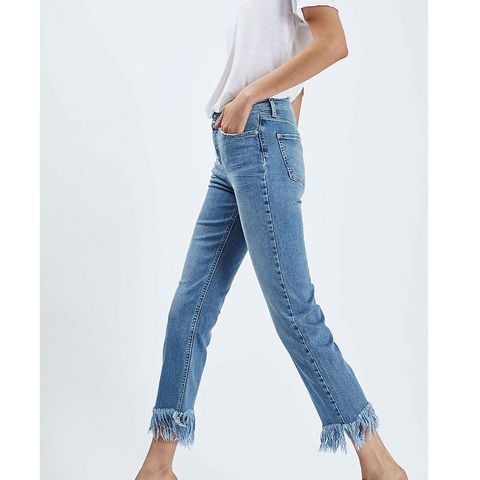 Blue, Product, Denim, Jeans, Trousers, Shoulder, Textile, Joint, White, Pocket,