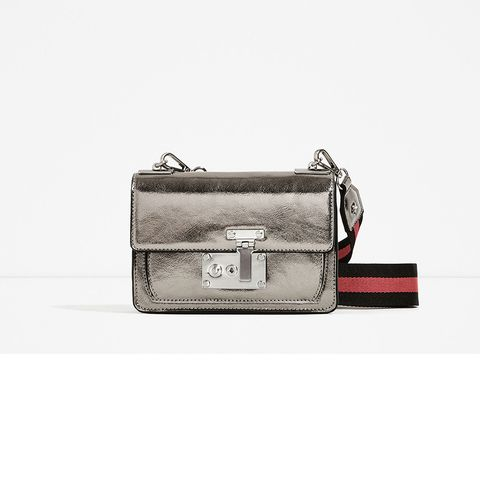 Style, Bag, Luggage and bags, Baggage, Beige, Rectangle, Briefcase, Leather, Shoulder bag, Silver,