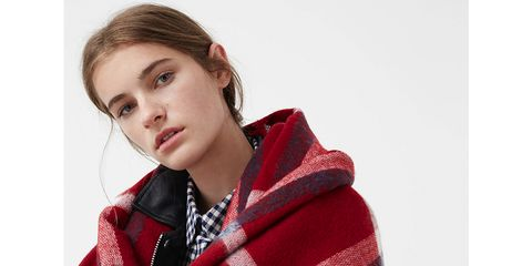 Sleeve, Wrap, Textile, Pattern, Plaid, Collar, Winter, Stole, Street fashion, Fashion,