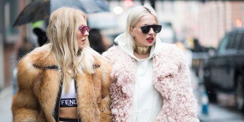 Eyewear, Glasses, Vision care, Sunglasses, Winter, Textile, Outerwear, Fur clothing, Jacket, Street fashion,