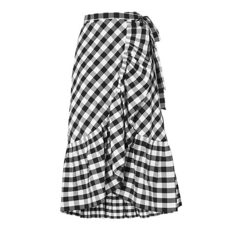 Plaid, Clothing, White, Pattern, Tartan, Design, A-line, Textile, Day dress, Outerwear,