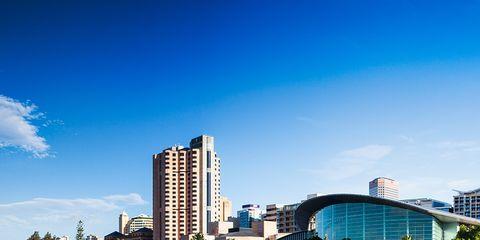 Reflection, Sky, City, Metropolitan area, Urban area, Daytime, Architecture, Cityscape, Water, Waterway,