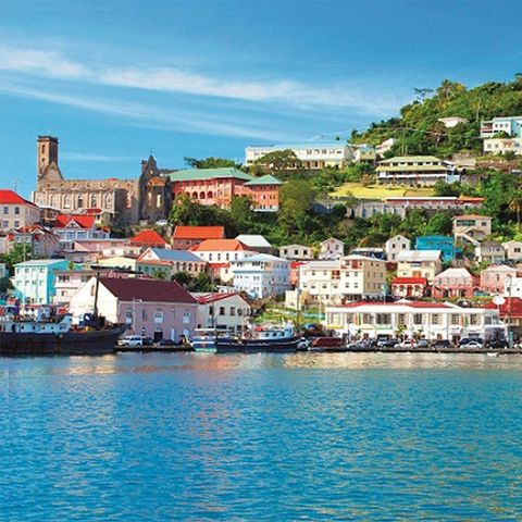 Body of water, Town, Sky, Water, Coast, Sea, Human settlement, Waterway, Azure, City,