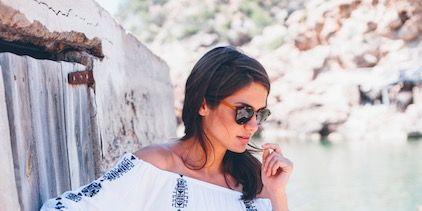 White, Clothing, Shoulder, Pink, Dress, Fashion, Sleeve, Lace, Textile, Street fashion,