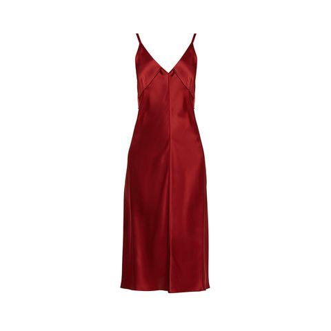 Sleeve, Dress, Formal wear, One-piece garment, Carmine, Maroon, Pattern, Day dress, Fashion design, Satin,