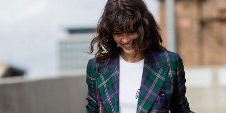 Plaid, Tartan, Sleeve, Collar, Dress shirt, Pattern, Textile, Outerwear, Coat, Style,