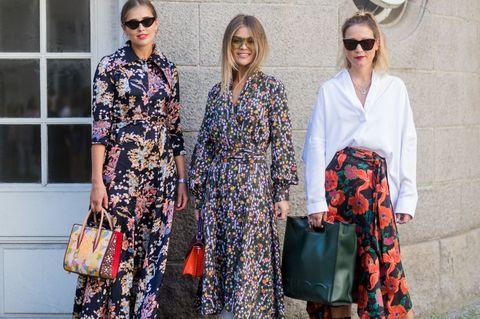 Clothing, Street fashion, Fashion, Eyewear, Dress, Kimono, Spring, Outerwear, Textile, Fashion design,