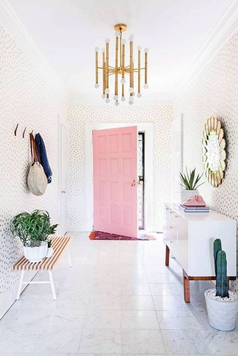White, Room, Interior design, Tile, Floor, Wall, Bathroom, Furniture, House, Flooring,