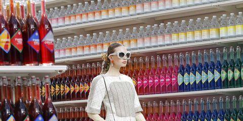 Supermarket, Drink, Distilled beverage, Alcohol, Bottle, Sunglasses, Liqueur,