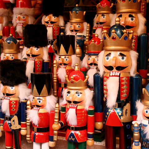 Nutcracker, Decorative nutcracker, Toy, Christmas decoration, Figurine, Collection, Souvenir, Interior design, Christmas, Tool,