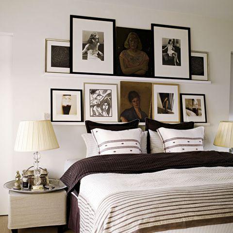 Human, Room, Interior design, Textile, Bed, Lamp, Linens, Wall, Bedding, Bedroom,