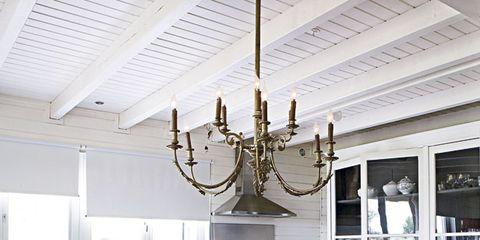 Room, Interior design, Table, Ceiling, Furniture, Light fixture, Chandelier, Ceiling fixture, Interior design, Candle holder,