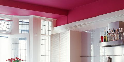 Interior design, Room, Floor, Flooring, Countertop, Glass, Interior design, Light fixture, Fixture, Kitchen,