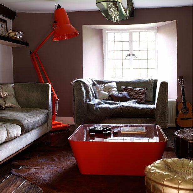 Retro Modern Living Room - Living Room Theater