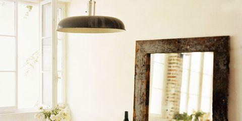 Wood, Interior design, Room, Floor, Flooring, Furniture, Table, Light fixture, Glass, Chair,
