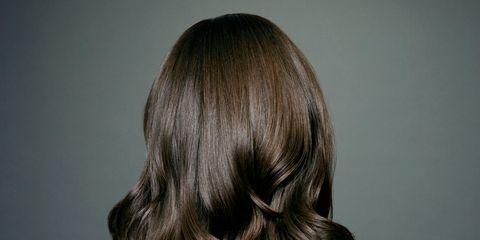Hair, Hairstyle, Shoulder, Back, Long hair, Beauty, Brown hair, Hair coloring, Chin, Layered hair,