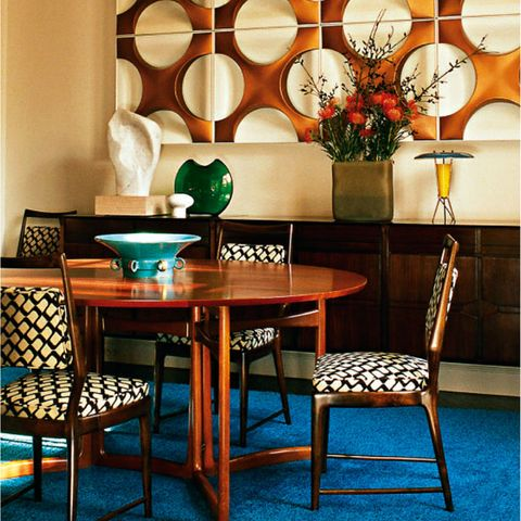 Image Credit Red Dining Room Modern Retro