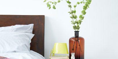 Furniture, Shelf, Room, Table, Nightstand, Bedroom, Shelving, Interior design, Textile, Bedding,