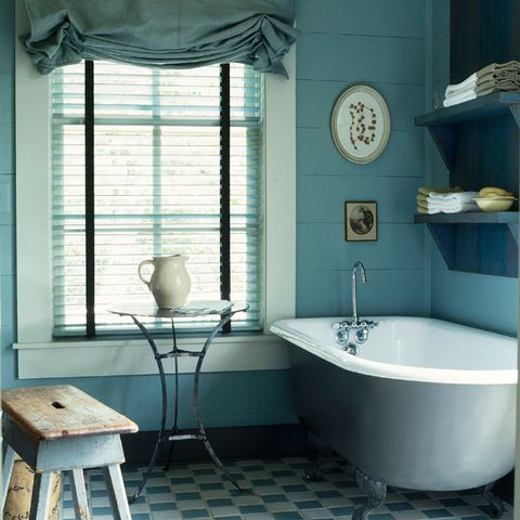 Blue, Plumbing fixture, Room, Interior design, Property, Floor, Tile, Glass, Wall, Bathroom sink,