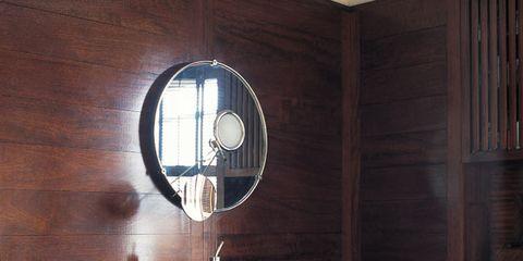 Wood, Room, Property, Interior design, Hardwood, Wall, Wood stain, Plumbing fixture, Bathroom sink, Fixture,