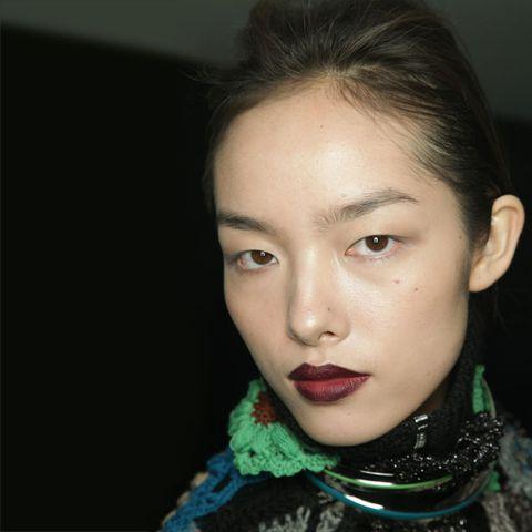 Lip, Cheek, Hairstyle, Chin, Forehead, Eyebrow, Eyelash, Jaw, Black hair, Beauty,