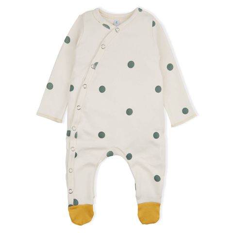 White, Clothing, Product, Sleeve, Outerwear, Baby & toddler clothing, Pattern, Design, Polka dot, Infant bodysuit,