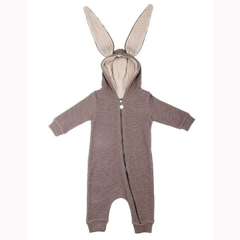 Clothing, Hood, Beige, Outerwear, Overall, Rabbits and Hares, Rabbit, Hare, Sleeve, Costume,